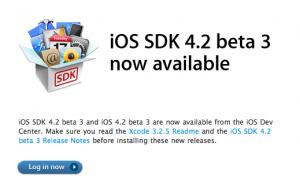 iOS SDK 4.2