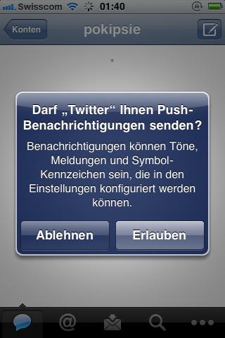 Twitter App - Push