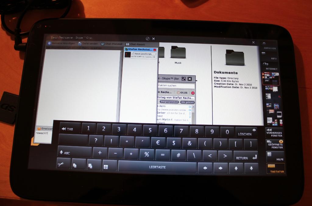 Skype mit Tastatur