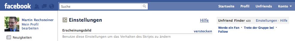 FB - Menue