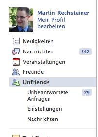 FB - Menue Links