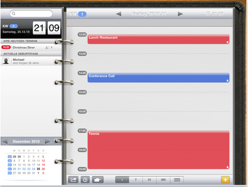 iPad App Übersicht