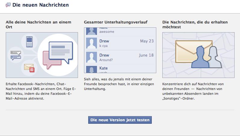 Facebook Nachrichten