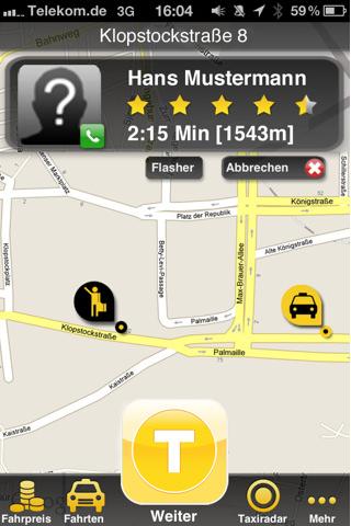 MyTaxi - Taxi Bestellen App bestellen