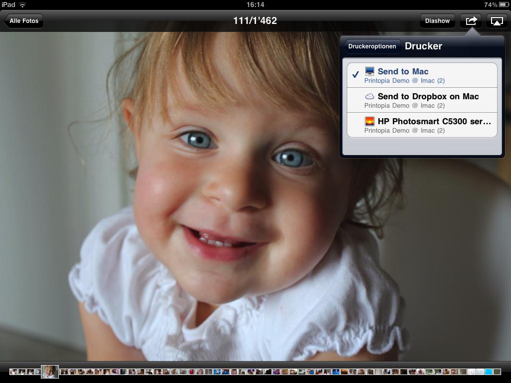 drucken auf iPad