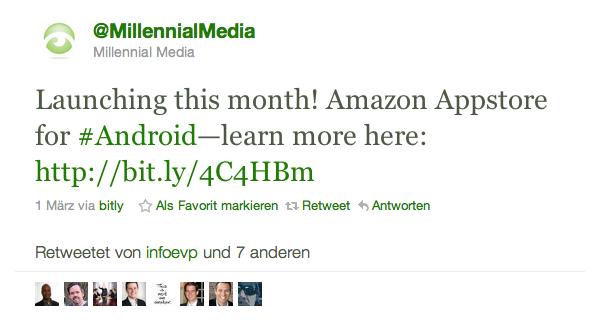 Tweet von Millenial Media