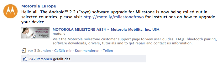 Android 2.2 Froyo Update ist da!