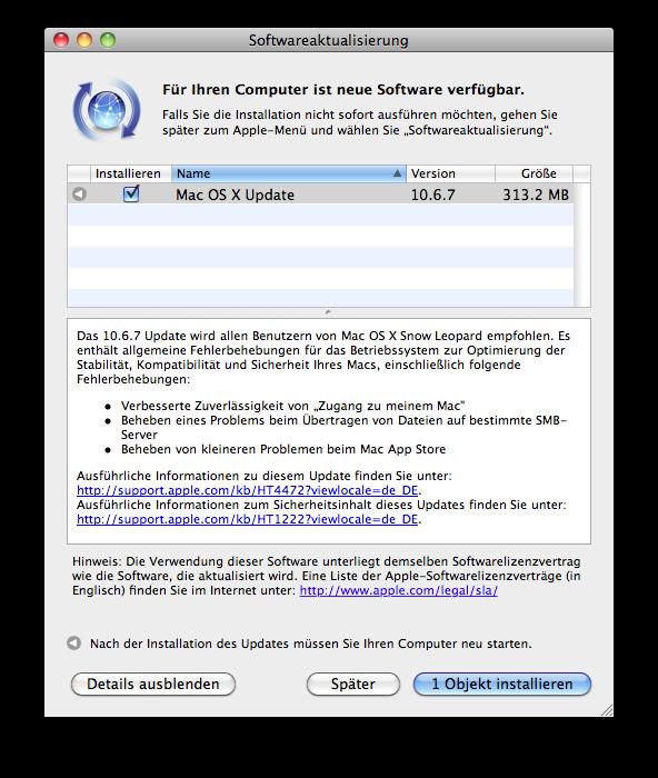 Mac OS X - Update 10.6.7