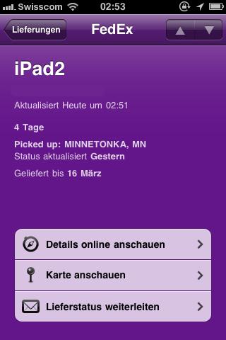 Delivers - Lieferstatus App