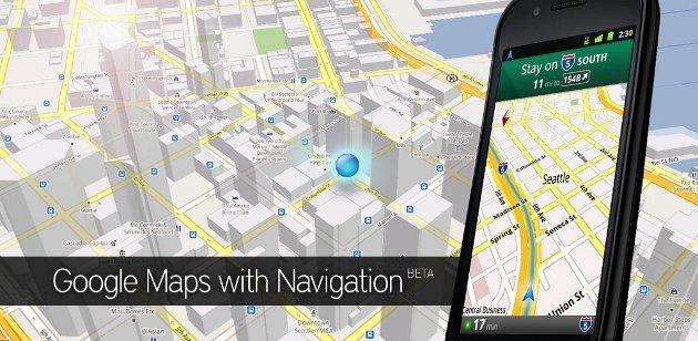 Google Navigation mit Verkehrsdaten