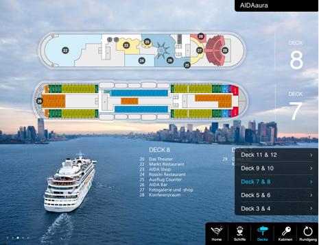 AIDA Kreuzfahrt App