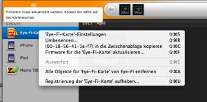 Eye-Fi Firmware aktualisieren