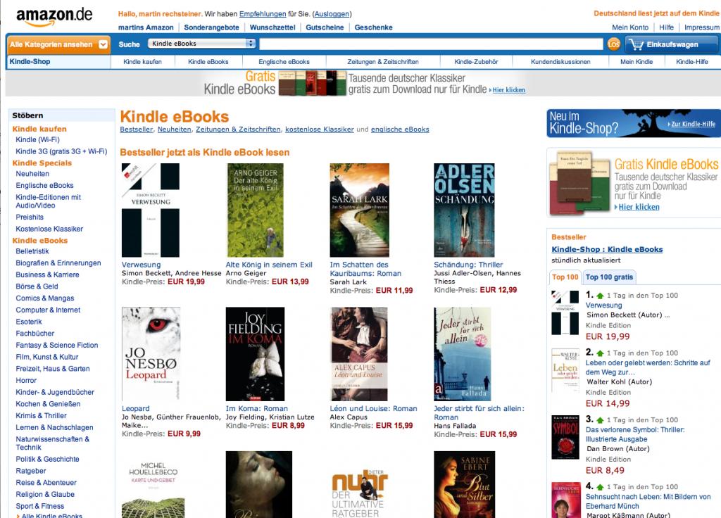 Kindle eBook Store