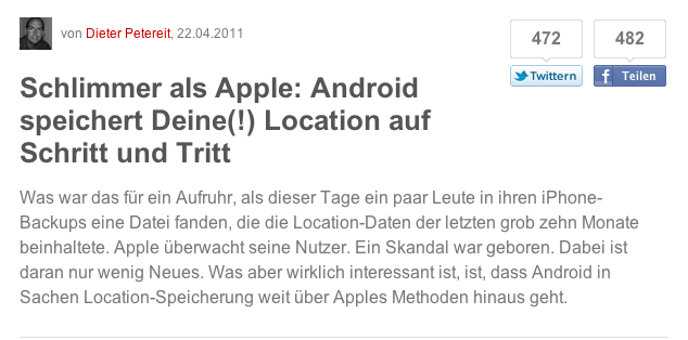 iOS speichert - Android speichert - wer ist jetzt der Böse