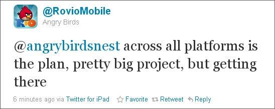 Angry Birds Tweet - geht in die Cloud