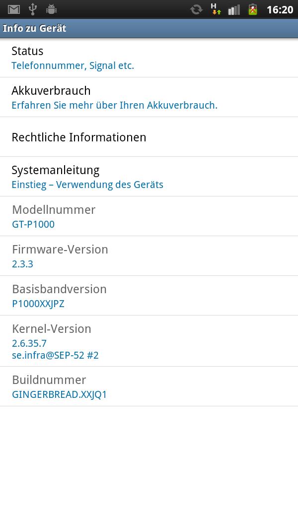 Samsung Galaxy Tab 2.3.3
