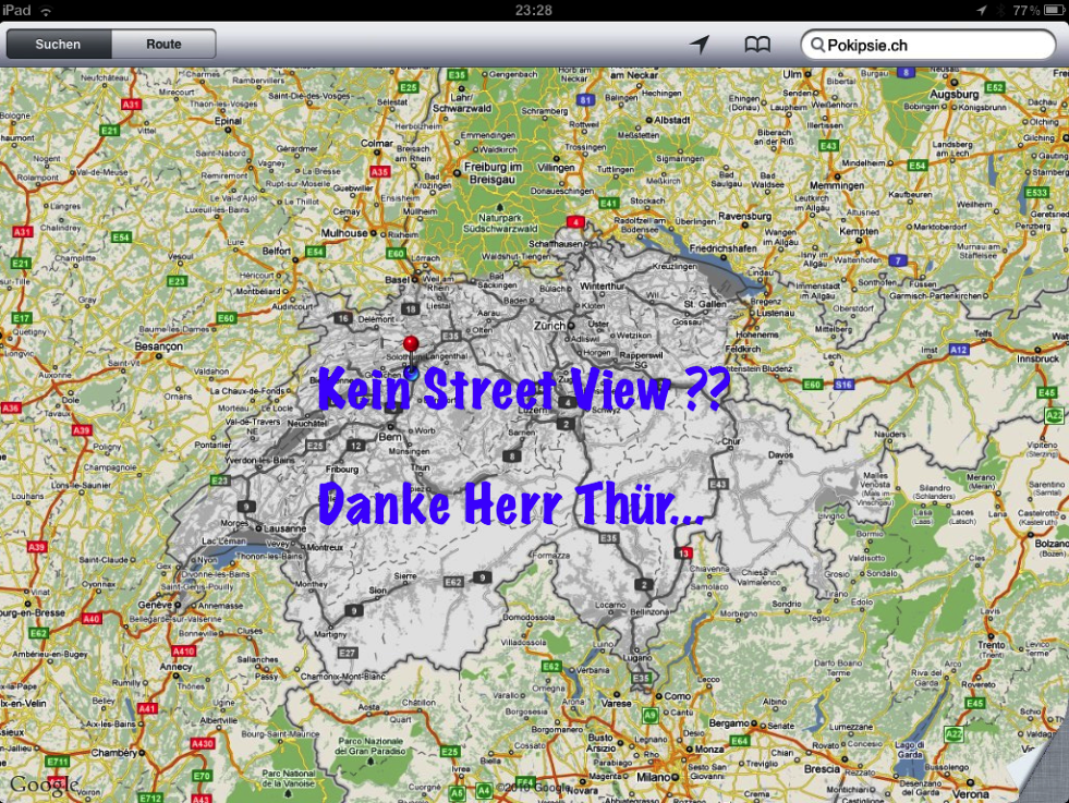 Offener Brief an Mr. Thür - Google Street View