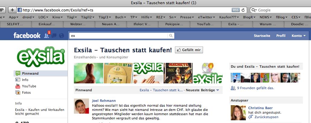 Exsila hat mich aus ihrer Facebook Fan Gruppe gelöscht :-)