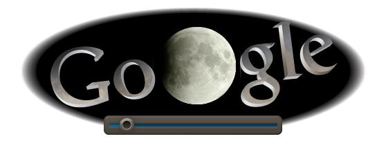 Google Doodle passend zur heutigen Mondfinsternis