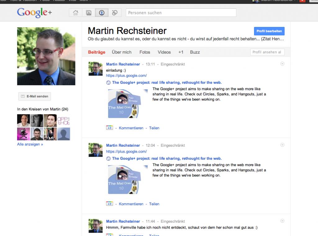 Google+ - Profil
