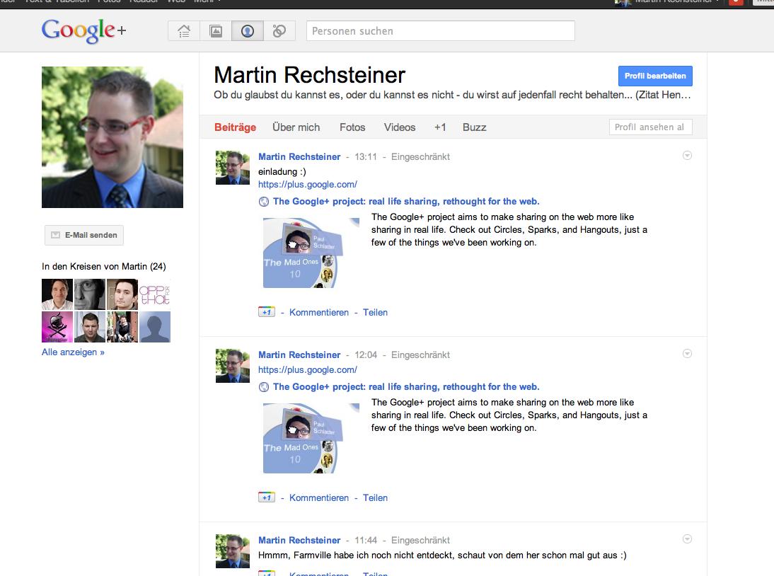 Google+ – Profil