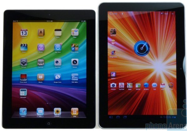 Samsung Galaxy 10.1 vs iPad 2