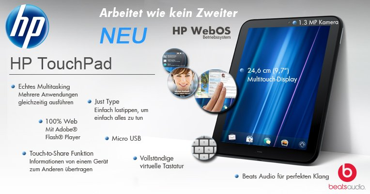 HP TouchPad mit WebOS