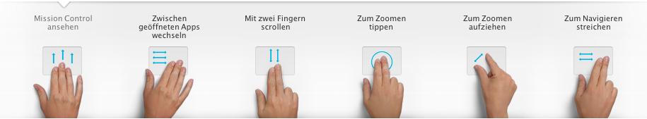 Multi-Touch Gesten