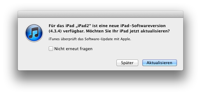 Sicherheits-Update iOS 4.3.5