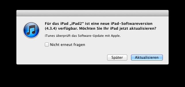Sicherheits-Update iOS 4.3.5
