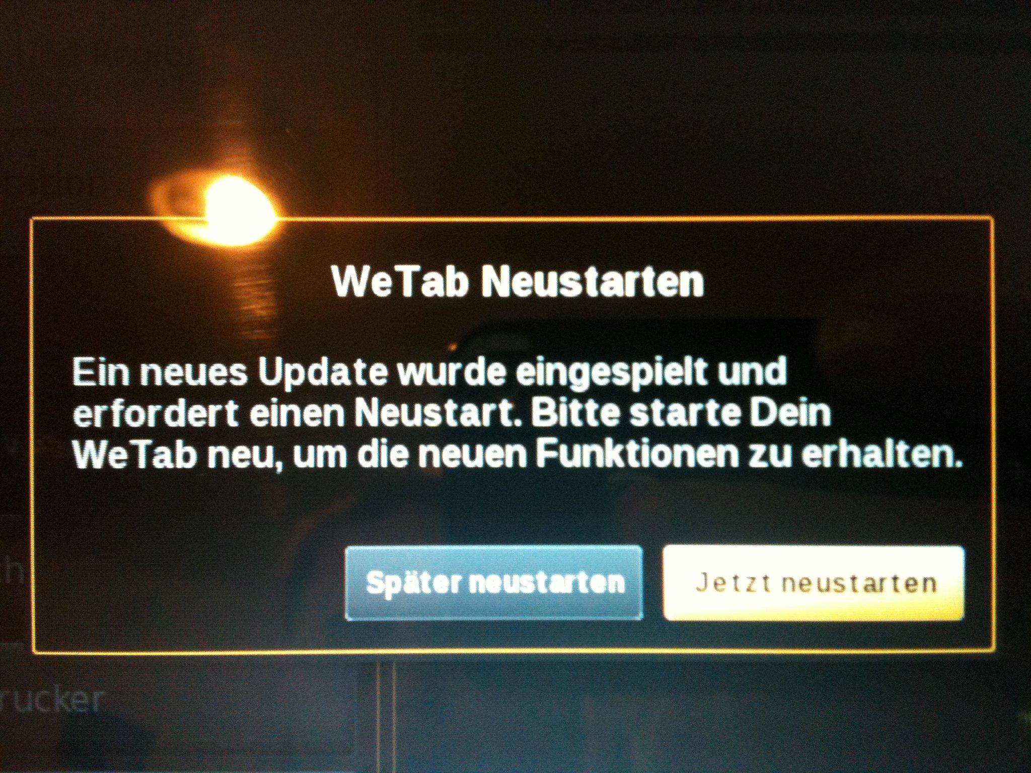 WeTab Update auf 2.3
