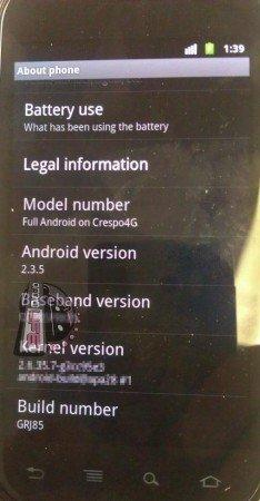 Android 2.3.5 kommt am Montag – aber nur für's Nexus S 4G