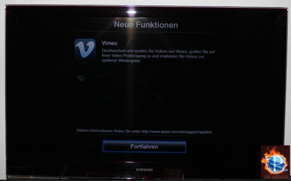 Apple TV Update auf 4.3