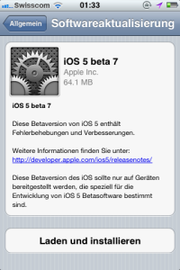 iOS 5 beta - die siebte ist nun für Entwickler online