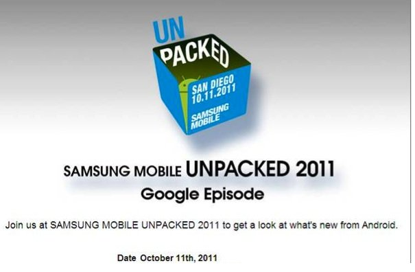 "Samsung Unpacked Event ""GoogleEpisode"" am 11. Oktober 11"