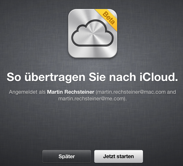 iCloud Umzug