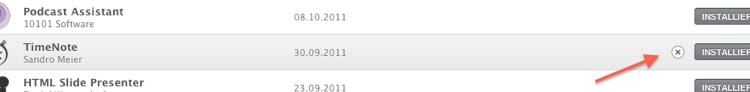 Mac App Store - gekaufte Apps verstecken