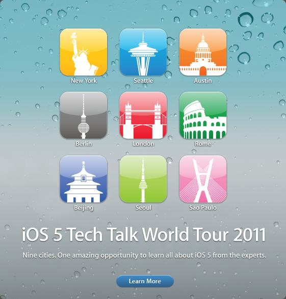 iOS 5 - Tech Talk World Tour 2011 - Apple lädt Entwickler ein