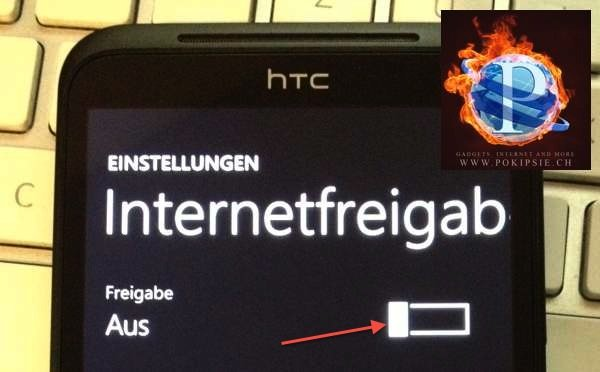 Thetering auf dem Windows Smarphone