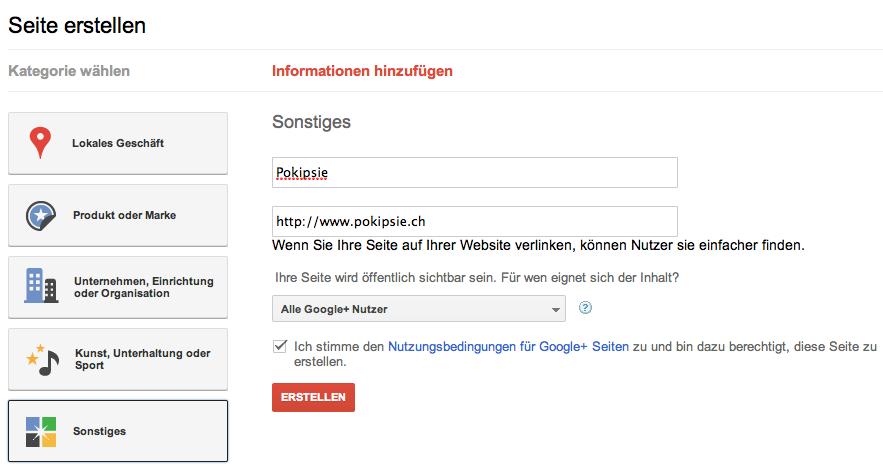 Google + endlich auch für Unternehmen und Marken
