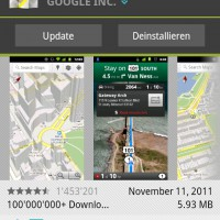 Google Maps App Update für Android