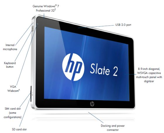 "HP Slate 2 - 8.9"" Tablet mit Windows 7"