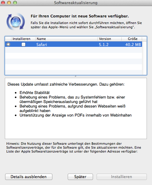 Update – Safari 5.1.2