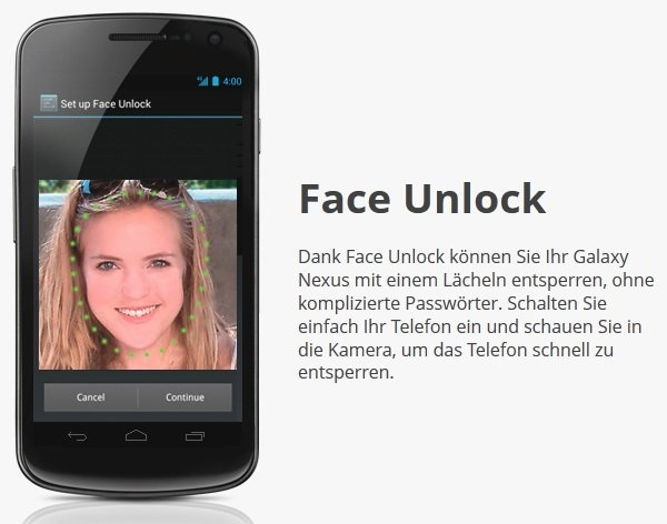 Ice Cream Sandwich – «Face Unlock»