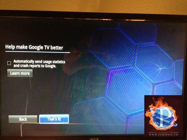 Google TV bekommt Update auf Android Honeycomb 3.2