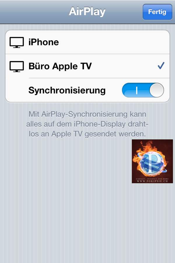 iPhone/iPad Kamera auf dem TV stremmen – AirPlay