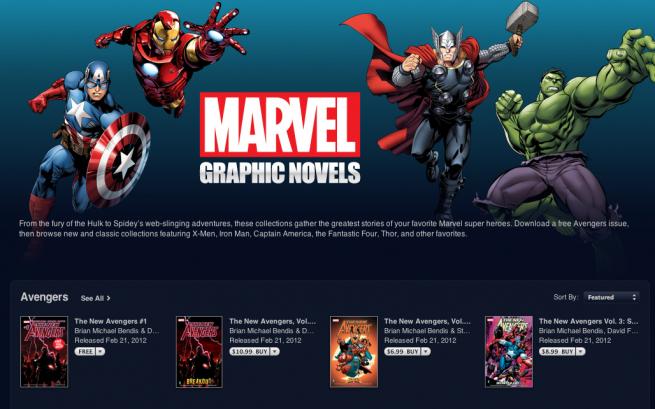Marvel Comics landen im iBooks Store