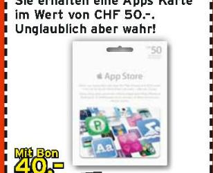 Schweiz - iTunes Karten Aktion bei Interdiscount