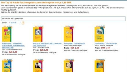 Amazon Kindle - 49 eBook vom Haufe-Verlag für EUR 1.49