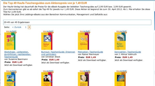 Amazon Kindle – 49 eBook vom Haufe-Verlag für EUR 1.49